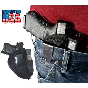 Special Ops IWB Belt Clip Holster, w/ Mag (Fits Glock 17, 19, 26, 30)  - Black