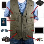 22 Pocket Sportsman Travel Vest / Outdoor Vest - Olive