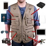 22 Pocket Sportsman Travel Vest / Outdoor Vest - Tan