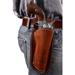 Colorado Leather Revolver Holster - Fits 4