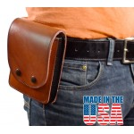 Leather Multipurpose Concealment Case Hidden Handgun Holster for Concealed Carry - Large, 6