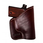 Mahogany Ultimate Leather Purse Holster -  Fits Inside Any Purse - For Sub-Compact Handguns