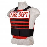 Tactical Grab and Go Level 3A Body Armor Vest - Fire Dept Red