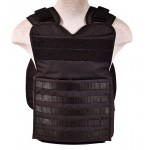Tactical Plate Carrier Vest - Black, One Size Fits All