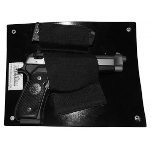 Under the Desk Holster - Wall Mounted  Gun Holster w/ Mag Pouch